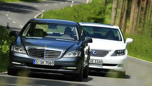 Lexus LS 600h, Mercedes Benz S 400 Hybrid