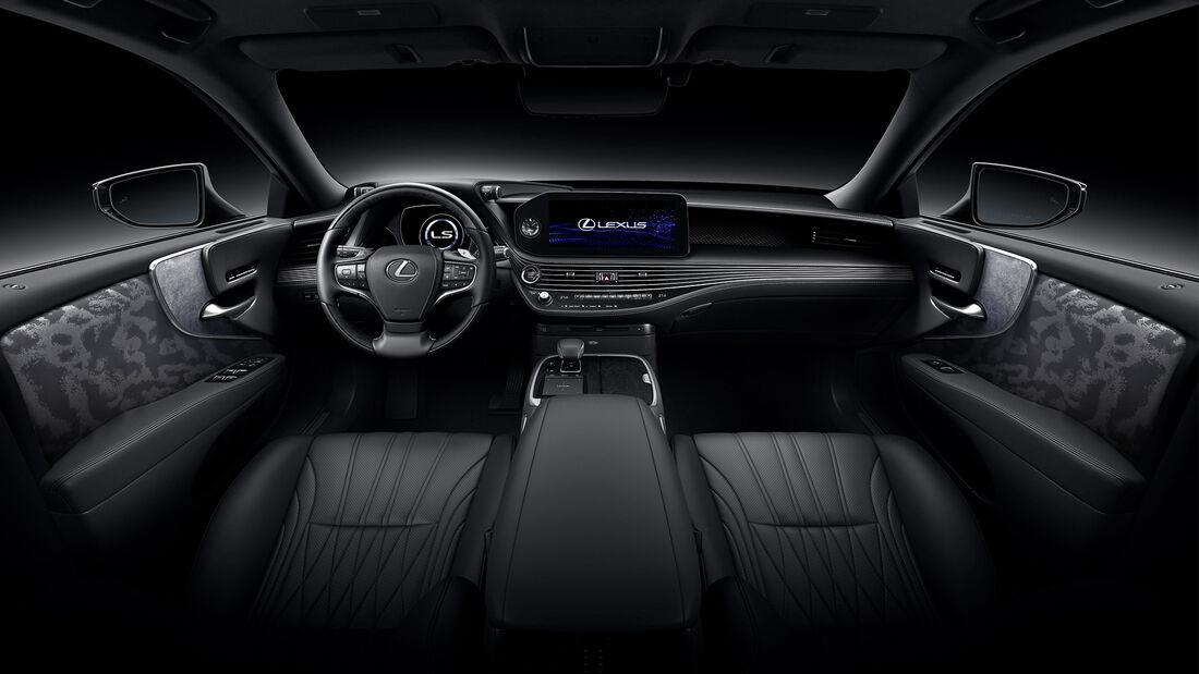 Lexus LS mit F Sport Facelift 2021 Modelljahr