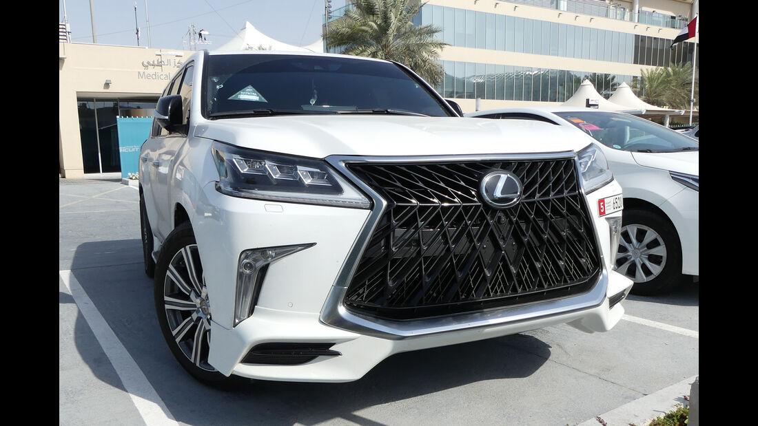 Lexus LX 570S - Carspotting - GP Abu Dhabi 2018