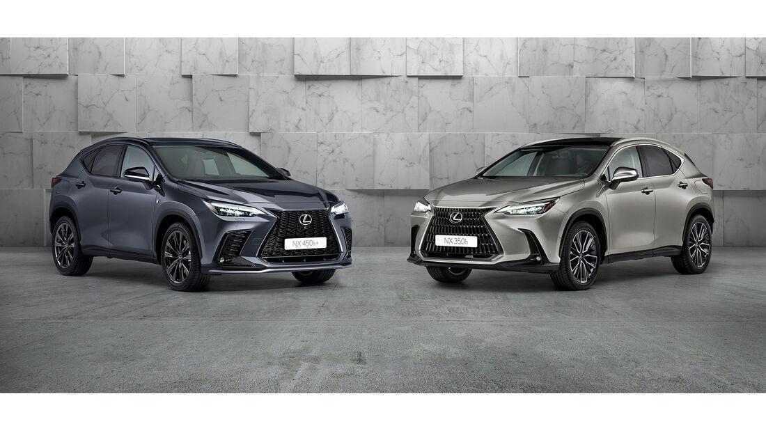 Lexus NX 450h+ (links) und Lexus NX 350h.