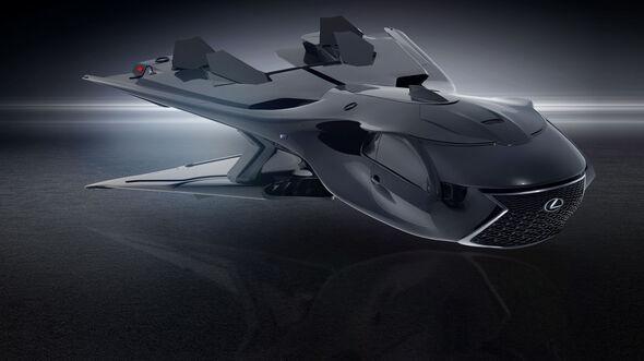 Lexus QZ 618 Galactic Enforcer Concept Jet MIB Men in Black