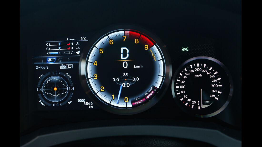 Lexus RC F, Anzeigeinstrumente