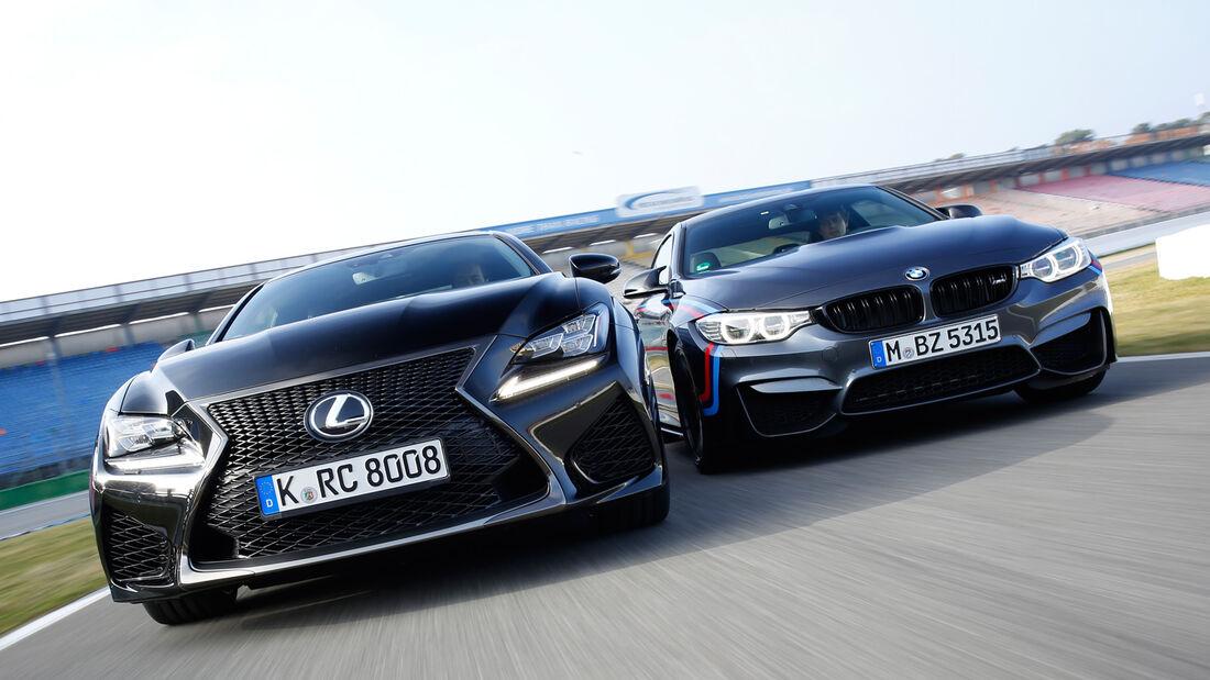 Lexus RC F, BMW M4 Performance, Frontansicht