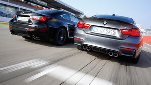 Lexus RC F, BMW M4 Performance, Heckansicht