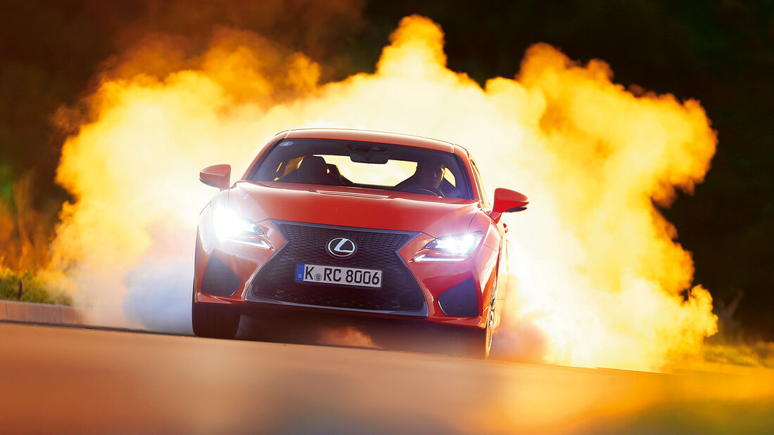 Lexus RC F, Frontansicht, Burnout