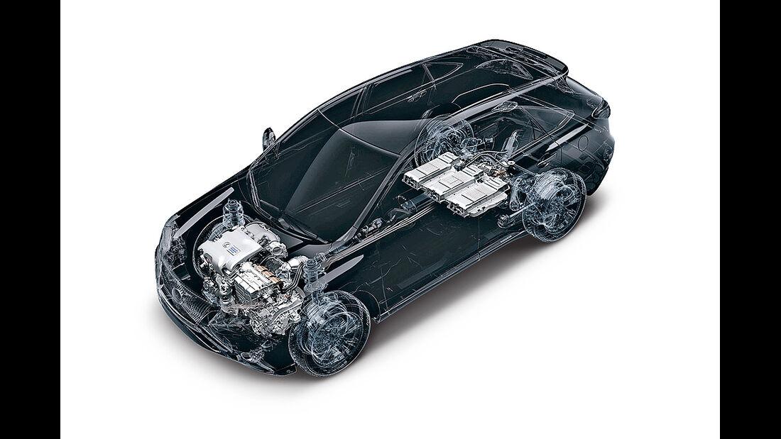 Lexus RX 450h, Hybrid-Allradantrieb