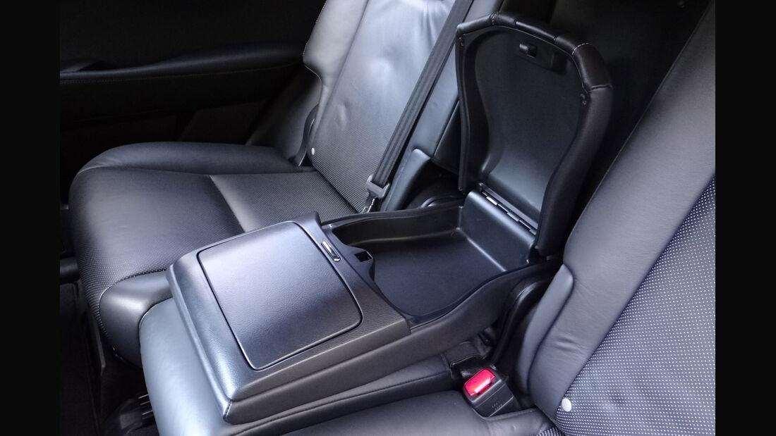 Lexus RX 450h, Innenraumcheck 2012, Rückbank