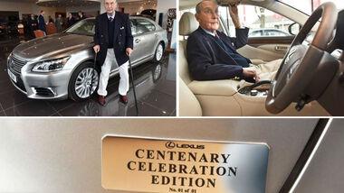 Lexus Sonderedition Unikat für 100 Jahre alten Kunden