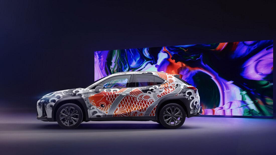 Lexus UX Koi Car Tätowiert Claudia De Sabe