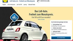 Lidl Autoleasing Fiat 500