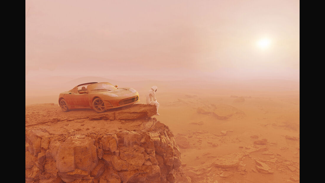 Life on Mars Tesla Roadster