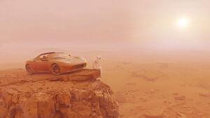 Life on Mars Tesla Roadster