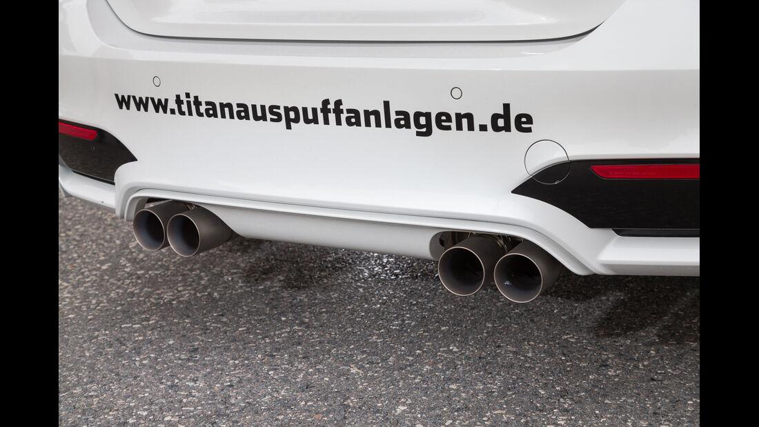 Lightweight BMW M4 Coupé, Auspuff, Endrohre
