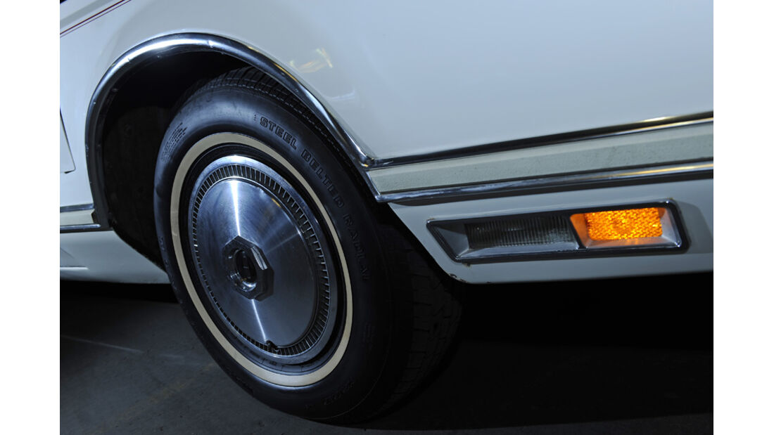 Lincoln Continental Mark V, Detail, Rad, Reifen, Felge