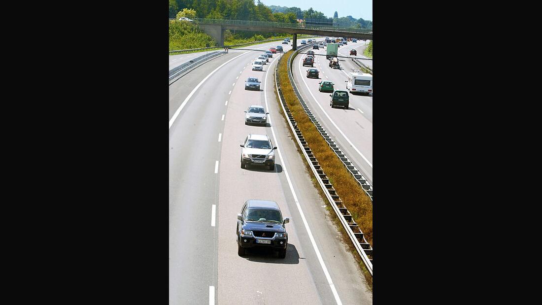 Linksfahren, Autobahn