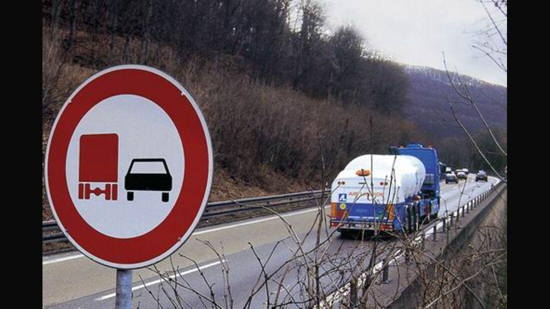 Lkw-Überholverbot rechtmäßig