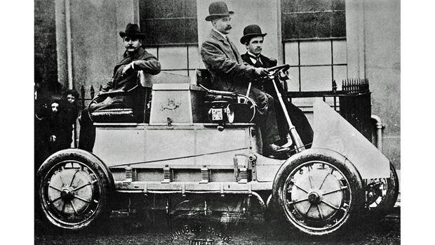 Lohner-Porsche Elektroauto Allradantrieb 1902