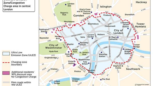 London Congestion Charge und ULEZ