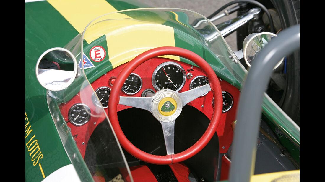 Lotus 25, Cockpit, Lenkrad