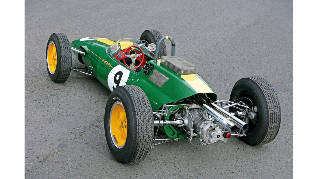 Lotus 25, Heckansicht