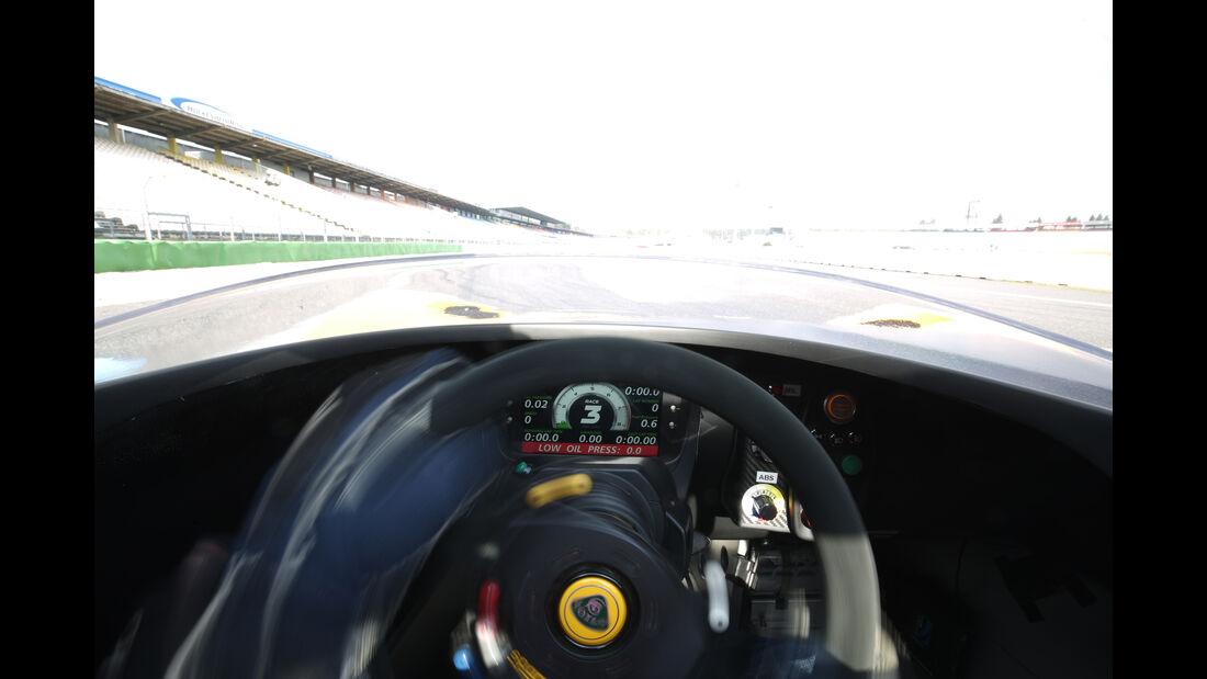 Lotus 3-Eleven, Cockpit, Fahrersicht