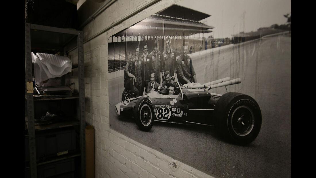 Lotus 38 - Indy 500 1965 - Classic Team Lotus - Lotus Workshop - Werkstatt - Hethel - England