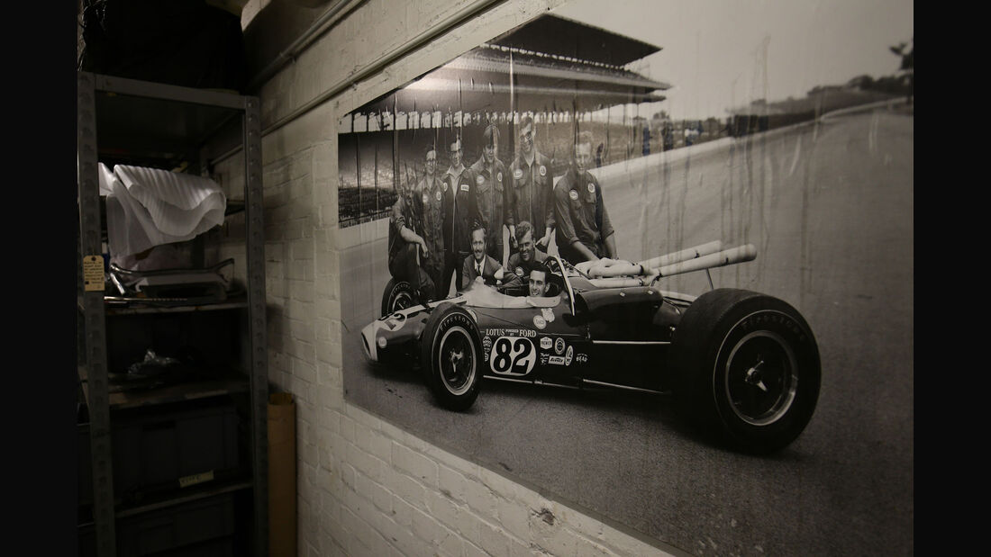 Lotus 38 - Indy 500 1965 - Classic Team Lotus - Lotus Workshop - Werkstatt - Hethel - England