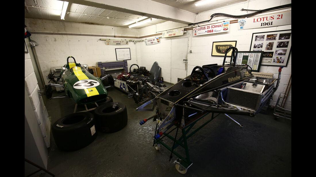 Lotus 78 - Lotus 25 - Lotus 18 - Classic Team Lotus - Lotus Workshop - Werkstatt - Hethel - England