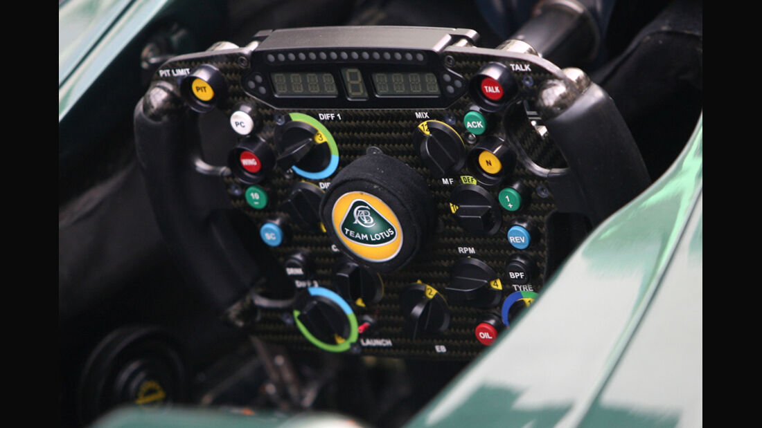 Lotus-Cockpit - GP Indien - 27.10.2011
