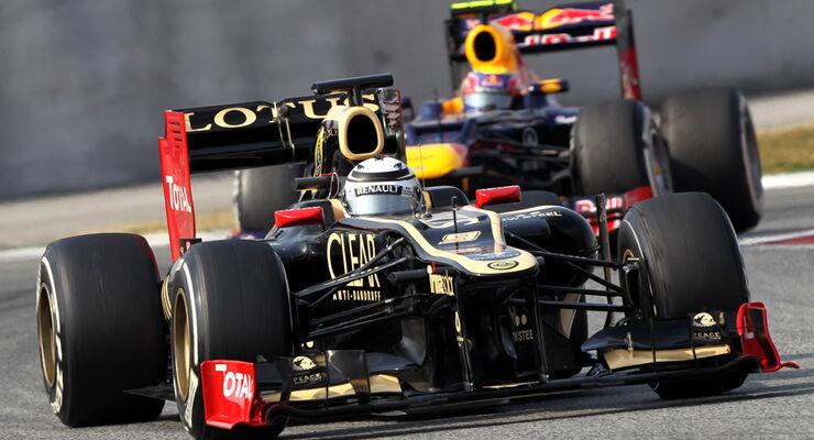 Lotus E20 Test Formel 1 2012