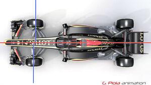 Lotus E21 - Piola - Radstand-Verlängerung - GP Italien 2013
