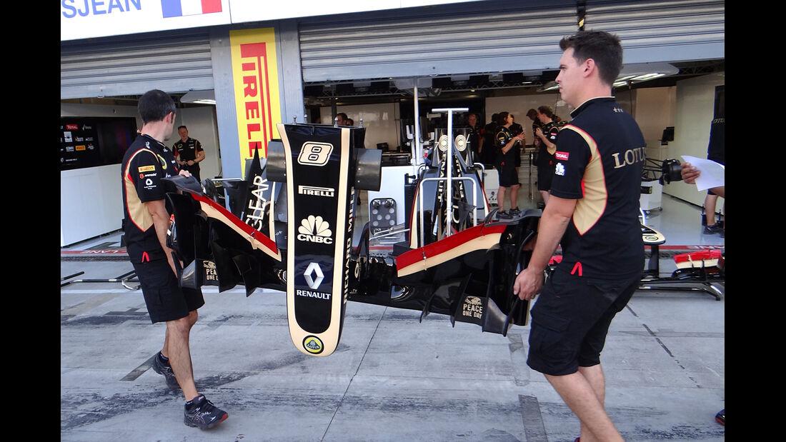 Lotus E21 - Radstand-Verlängerung - GP Italien 2013