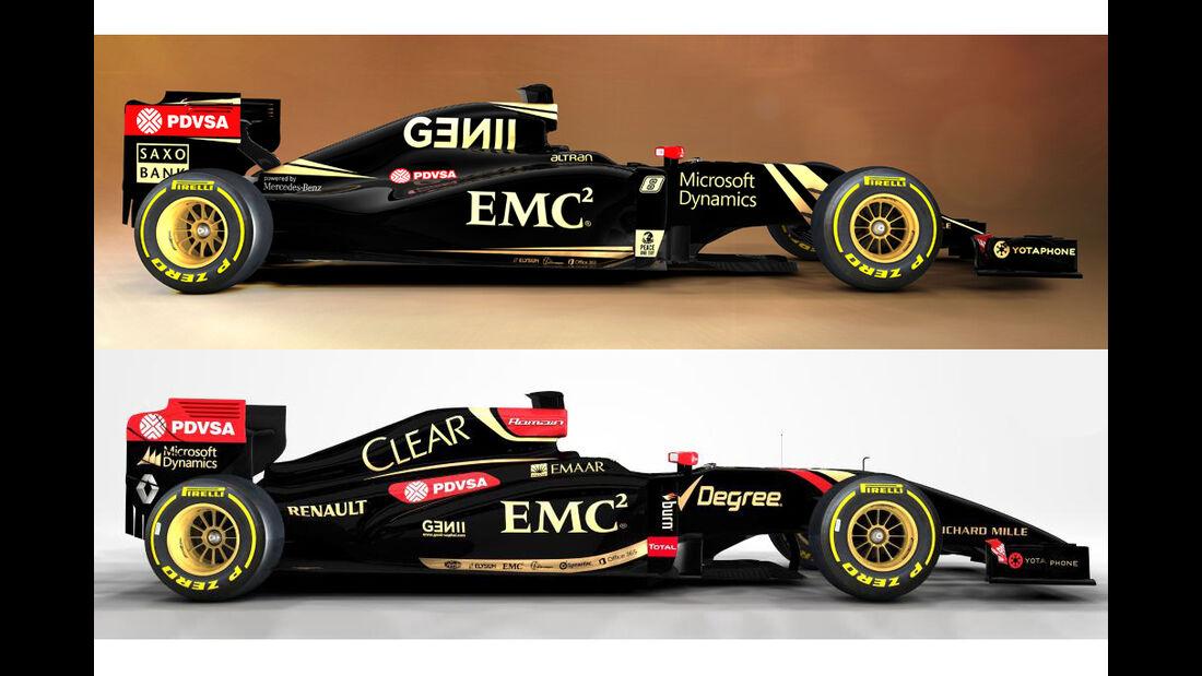 Lotus E22 vs. E23
