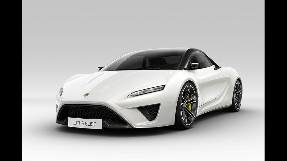 Lotus Elise 2015 schräg von der Seite