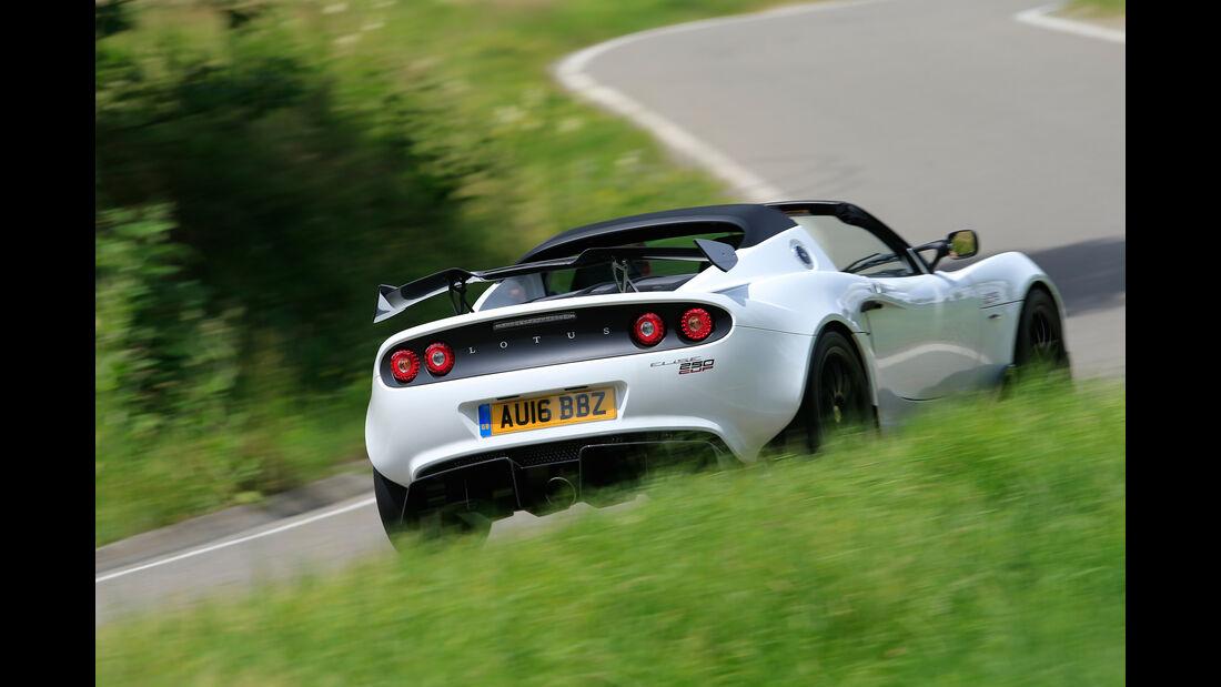 Lotus Elise Cup 250, Heckansicht