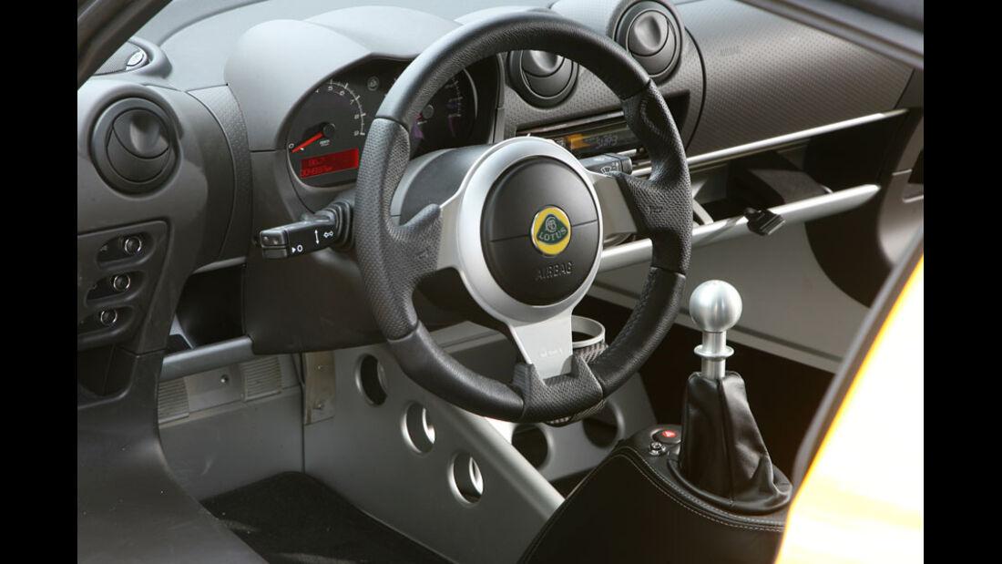 Lotus Elise, Innenraum, Cockpit, Lenkrad