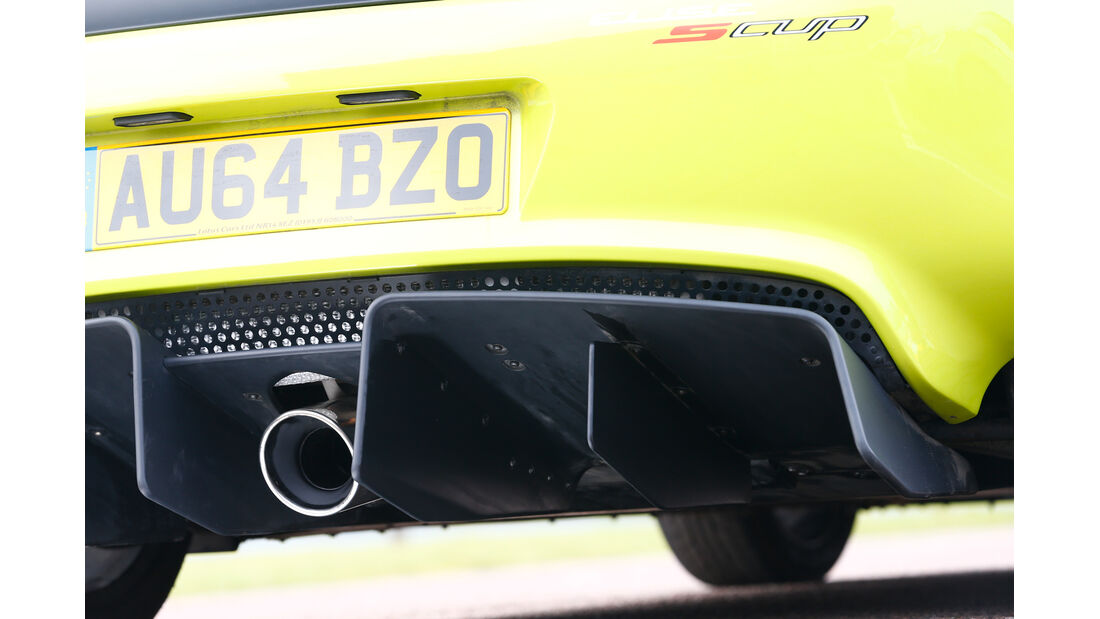 Lotus Elise S Cup, Auspuff, Endrohr