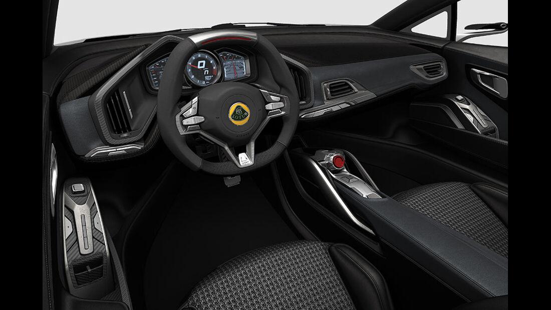 Lotus Esprit, Innenraum