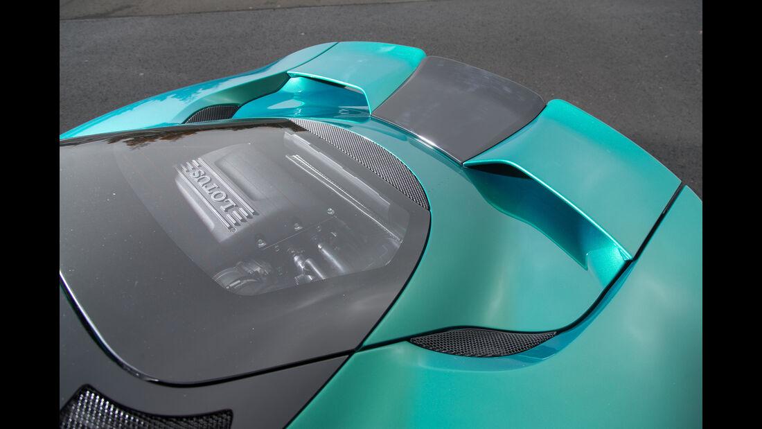 Lotus Evora 400, Motorabdeckung