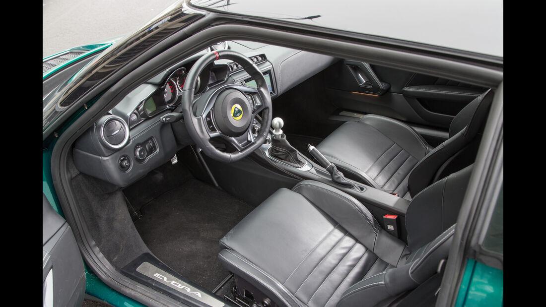 Lotus Evora 400, Sitze, Cockpit