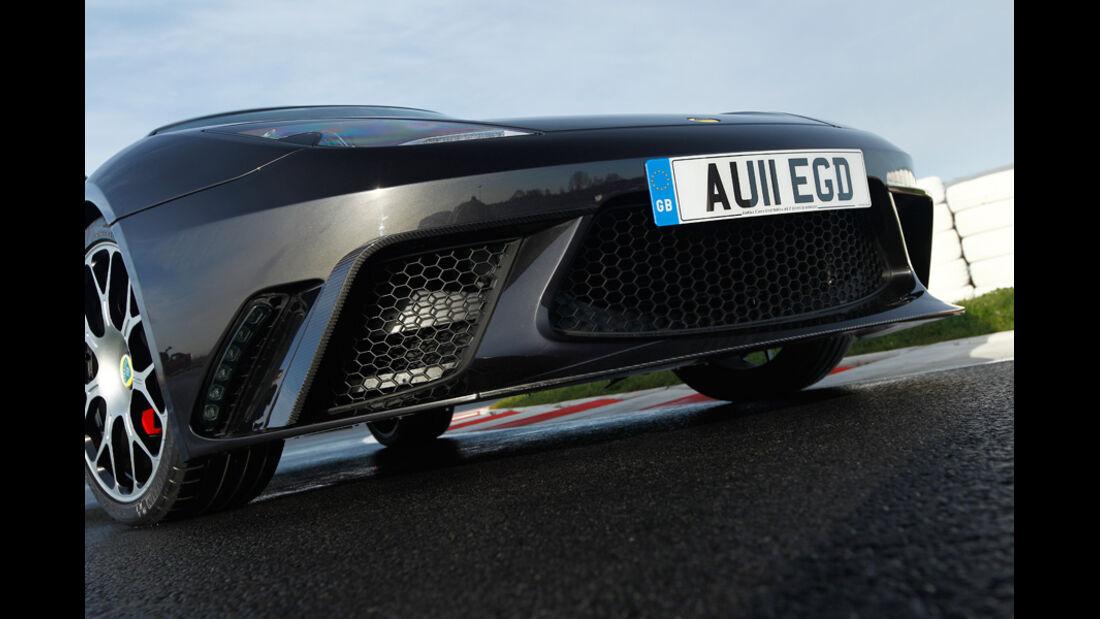 Lotus Evora GTE, Frontschürze