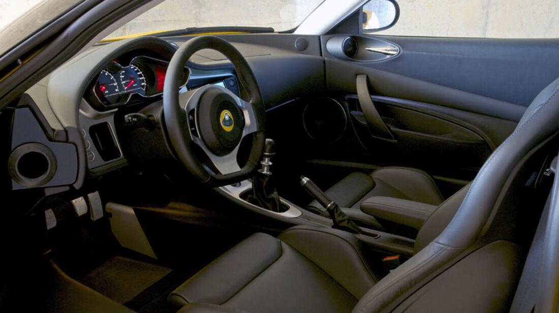 Lotus Evora S, Innenraum, Cockpit