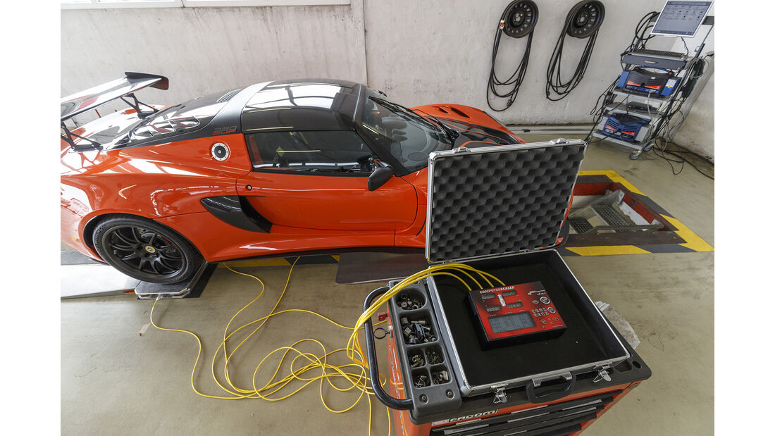 Lotus Exige Cup 380, Leistungsmessung
