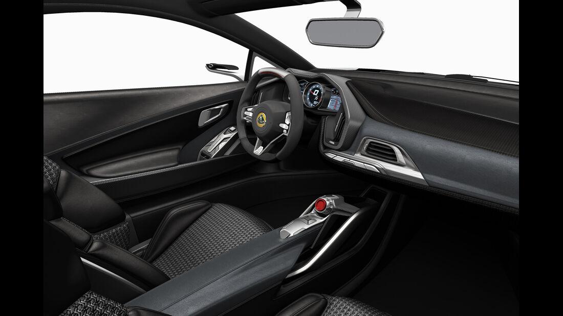 Lotus Exige S, Cockpit, Innenraum