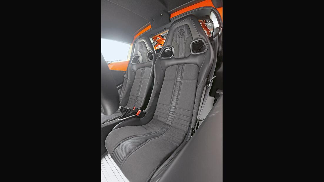 Lotus Exige S, Fahrersitz