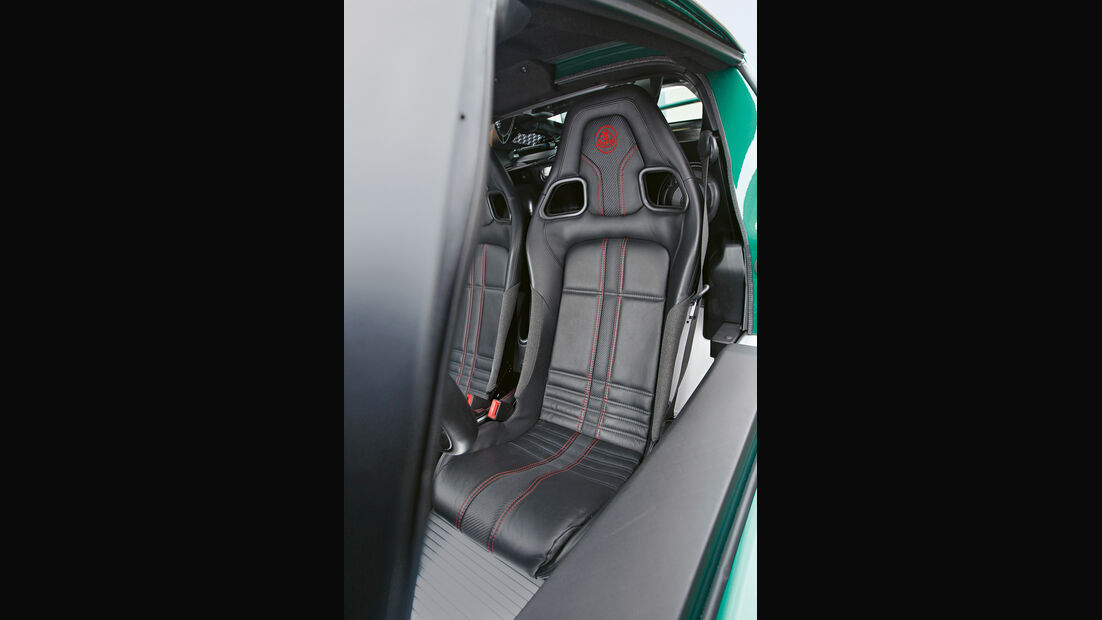 Lotus Exige S, Fahrersitz, Sportsitz
