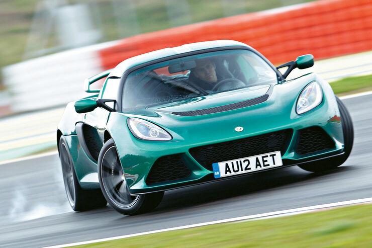 Lotus Exige S, Frontansicht, Querbeschleunigung