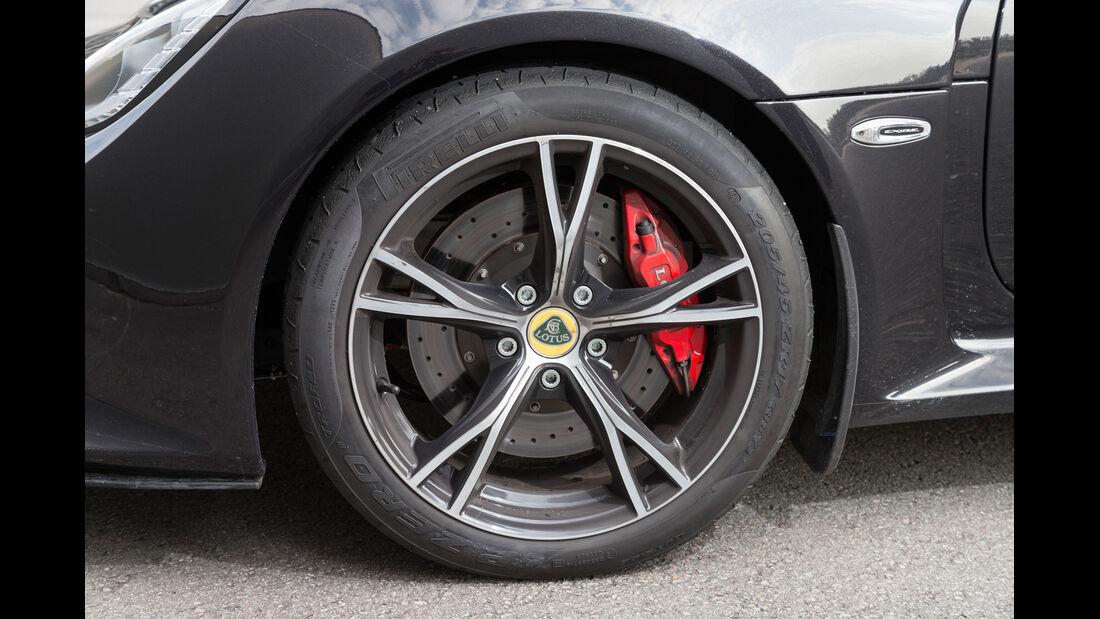 Lotus Exige S, Rad, Felge, Bremser