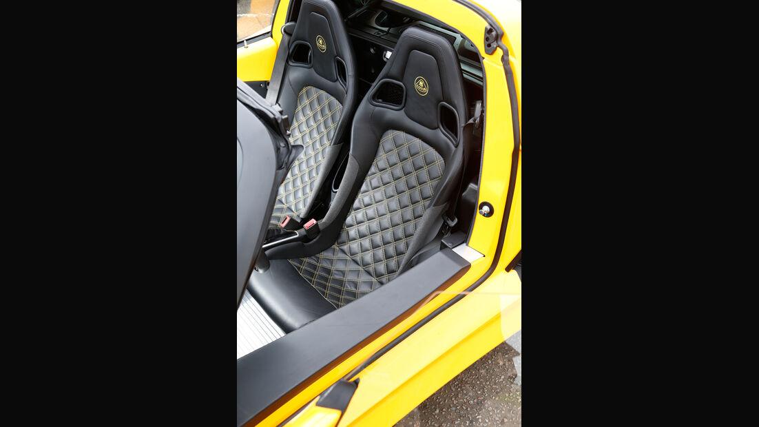 Lotus Exige S Roadster Automatic Option, Fahrersitz