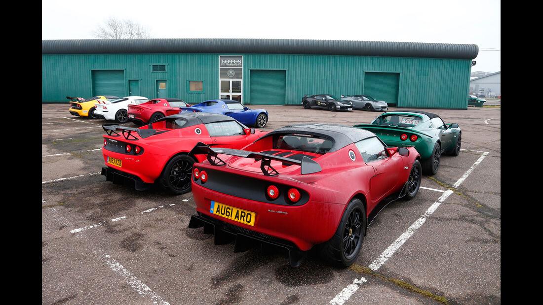 Lotus Exige S Roadster Automatic Option, Lotus Elise S Cup, Gruppenbild